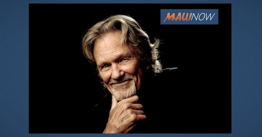 Maui Now: Kris Kristofferson & The Strangers on Maui, Oct. 19