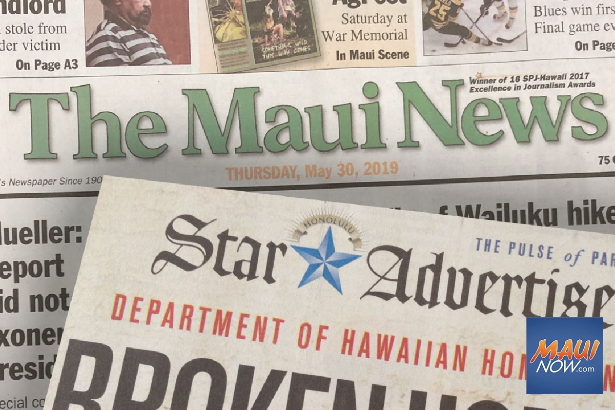 "Honolulu Star-Advertiser to ""Fill the Void"" with Maui Edition Insert"