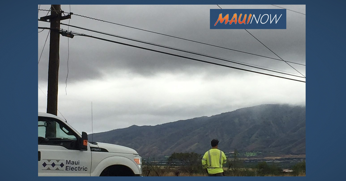 Hawaiian Electric Aerial Line Inspections in Upcountry and Central Maui on Dec. 4