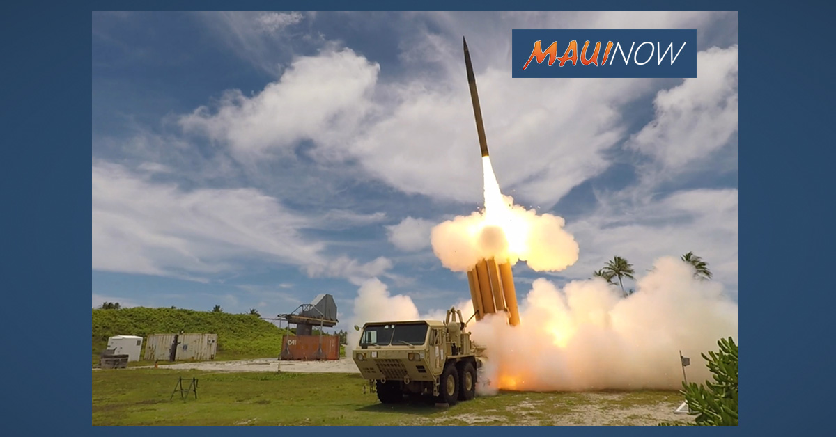 Target in Missile Defense Flight Test Successfully Intercepted Over Pacific