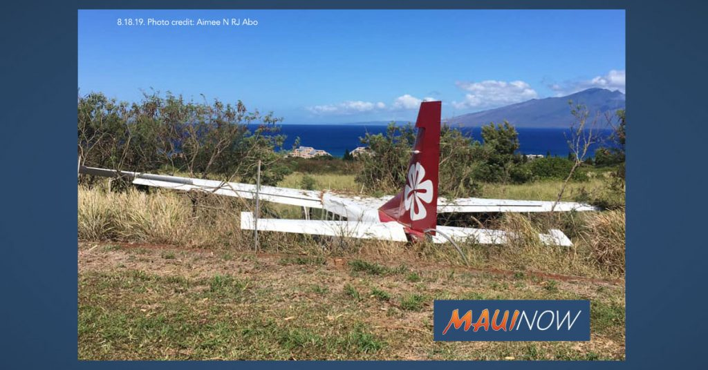 Maui Now: Plane That Ran off Runway in Kapalua Had Trouble Slowing Down, Report Finds