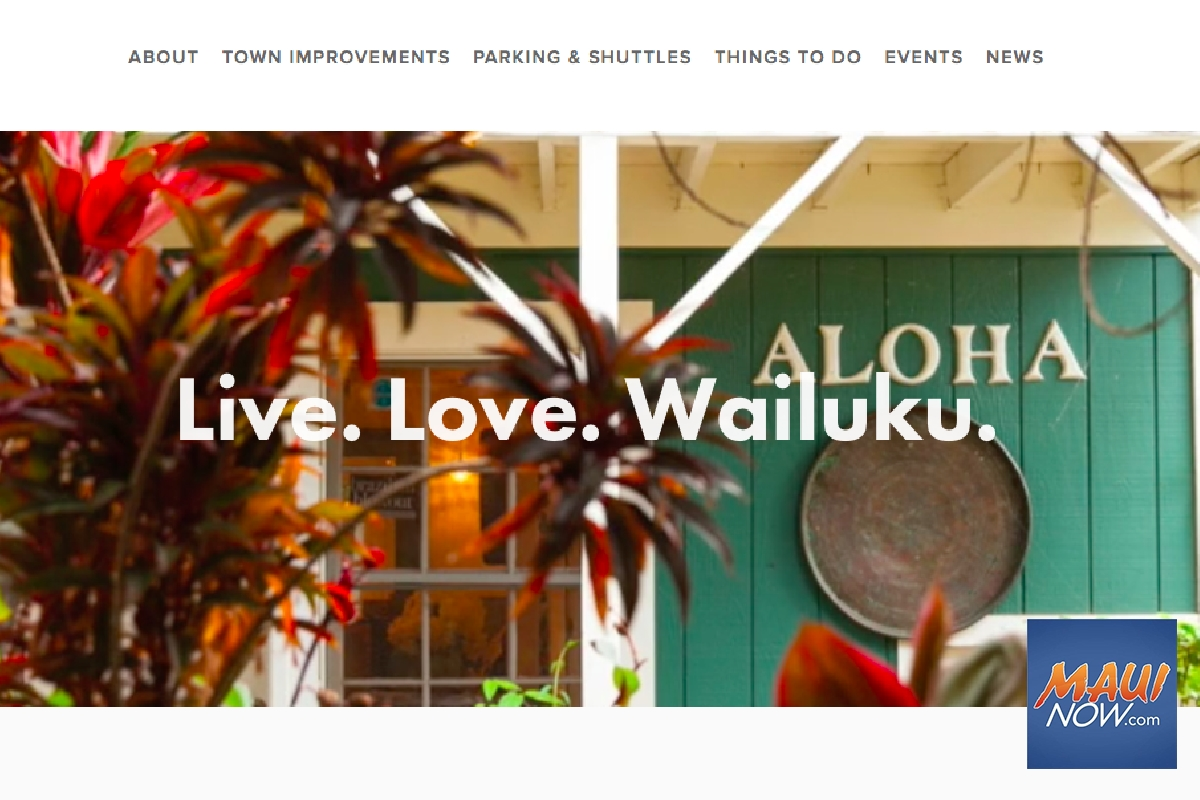 New Website to Provide Updates on Wailuku Town Developments