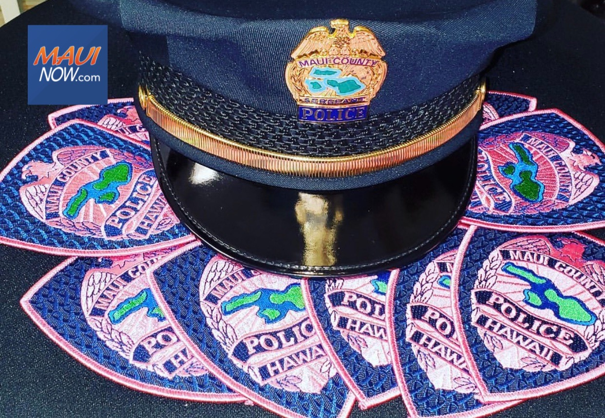 Maui Police Participate in Beard It Up, Color For the Cure, Pink Patch Campaigns