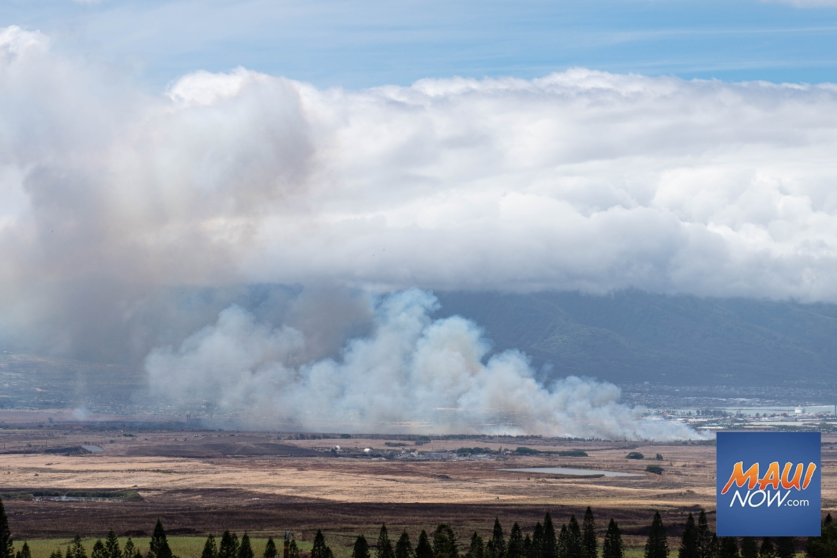 UPDATE: Kahului Fire Fully Contained, Over 100 Acres Burned