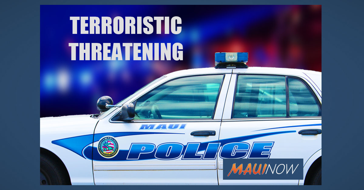 Man Arrested on Terroristic Threatening Charge in Wailuku