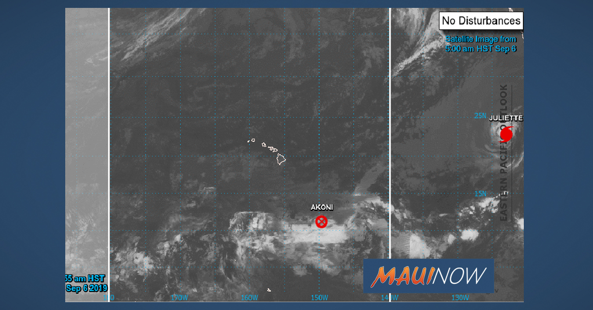 Akoni Downgraded to Remnant Low, Juliette Continues Weakening