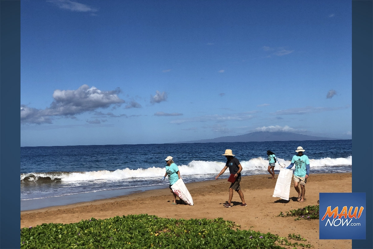 Kīhei Beach Cleanup Clears Over Hundred Pounds of Trash