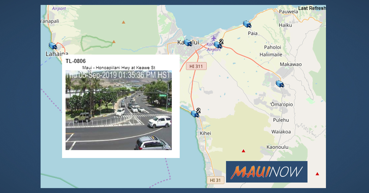 New Maui Traffic Camera Images Now Available Online