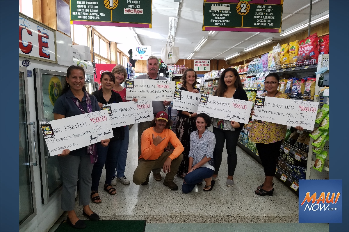 Pukalani Superette Donates Thousands to Elementary Schools