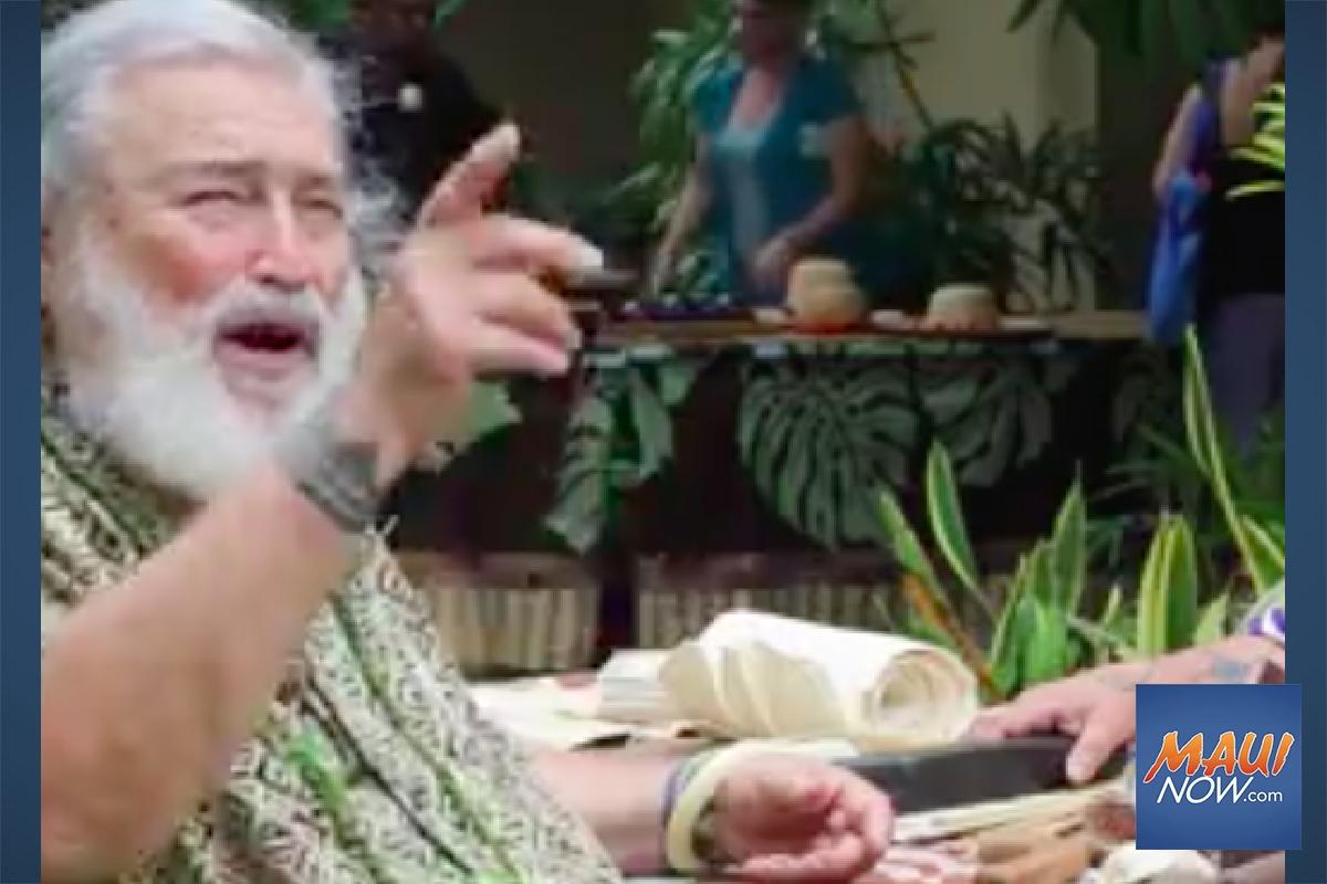 'Living Treasure' Sam Kaʻai to Speak at Farmers Meeting