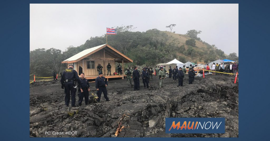 Maui Now: State Removing Structure Close to Demonstration Site at Maunakea