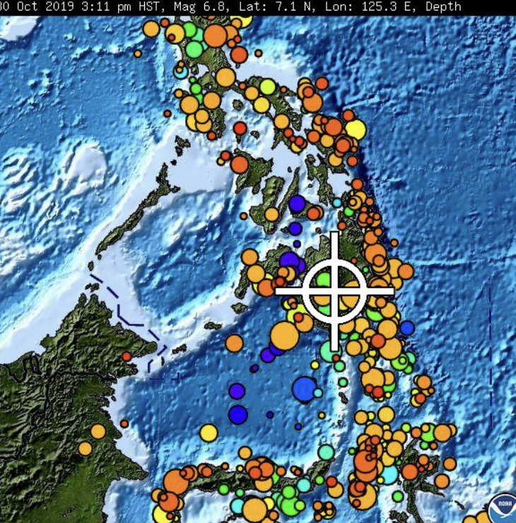 3rd strong earthquake this month jolts southern Philippines
