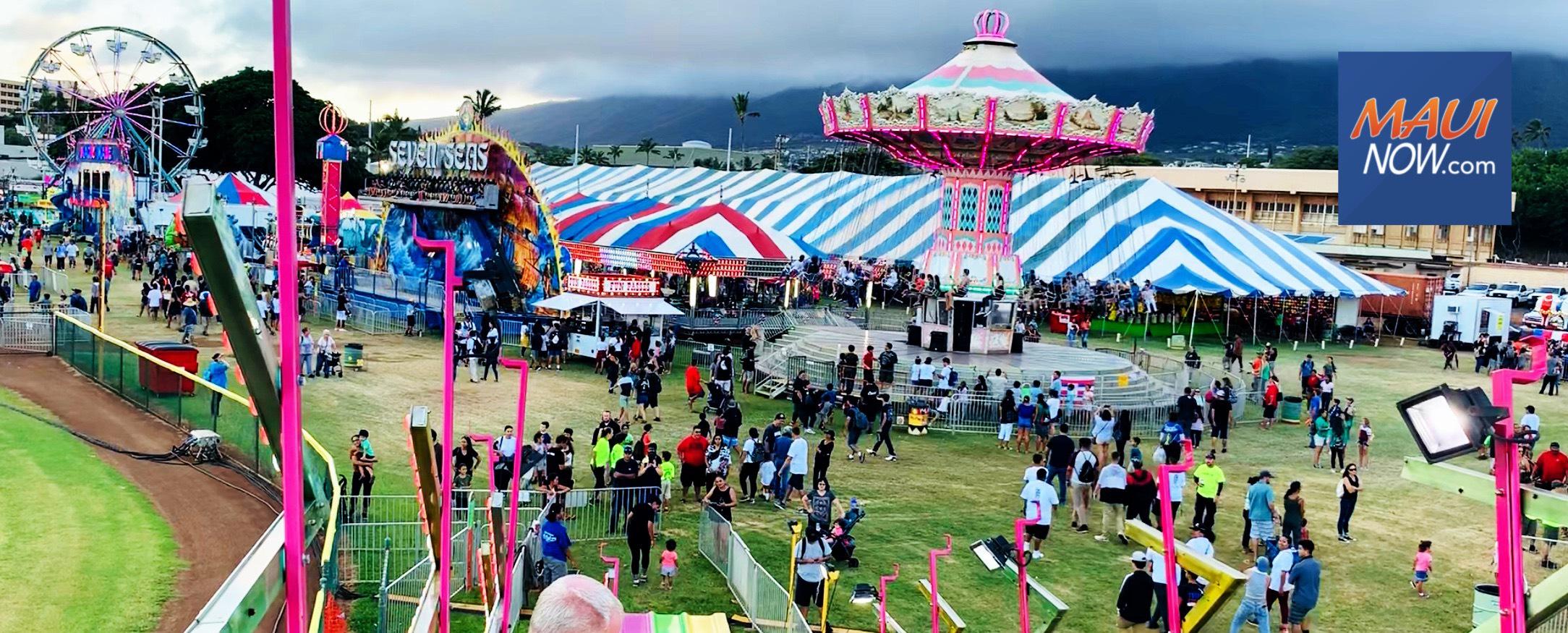 Todayʻs Maui Fair Event Line Up
