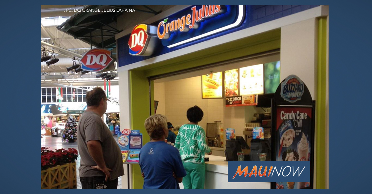 Dairy Queen Orange Julius in Lahaina Closed After 20 Years