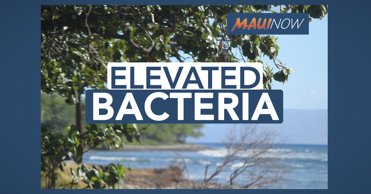 High Bacteria Count at Teen Challenge in Olowalu, Maui