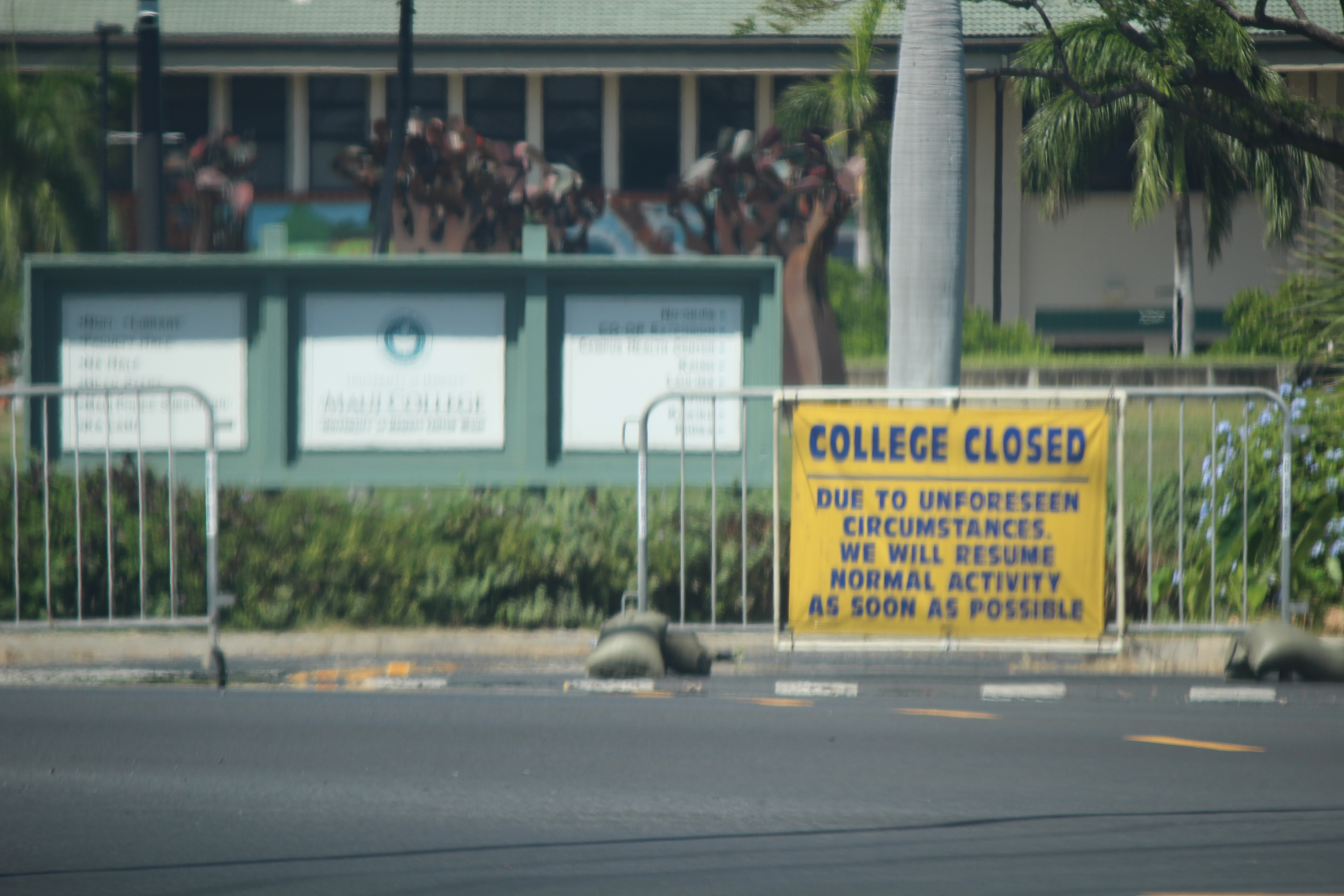 BREAKING: UH Maui College Closed For the Day Following Threat