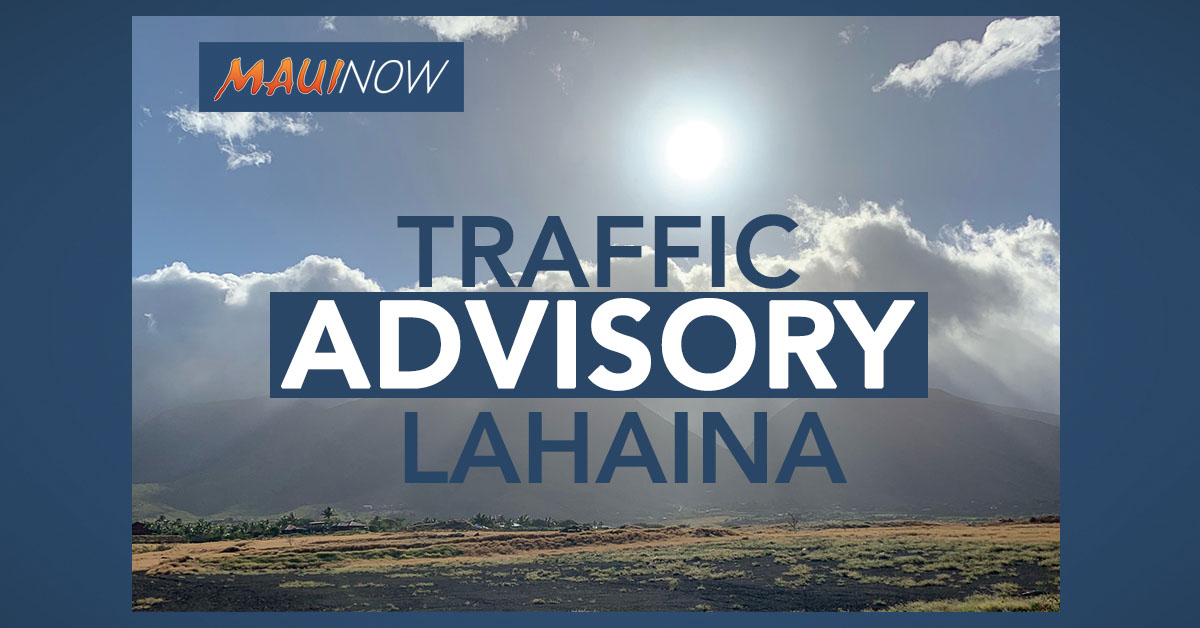 Motor Vehicle Accident Damages Utility Pole in Lahaina Town