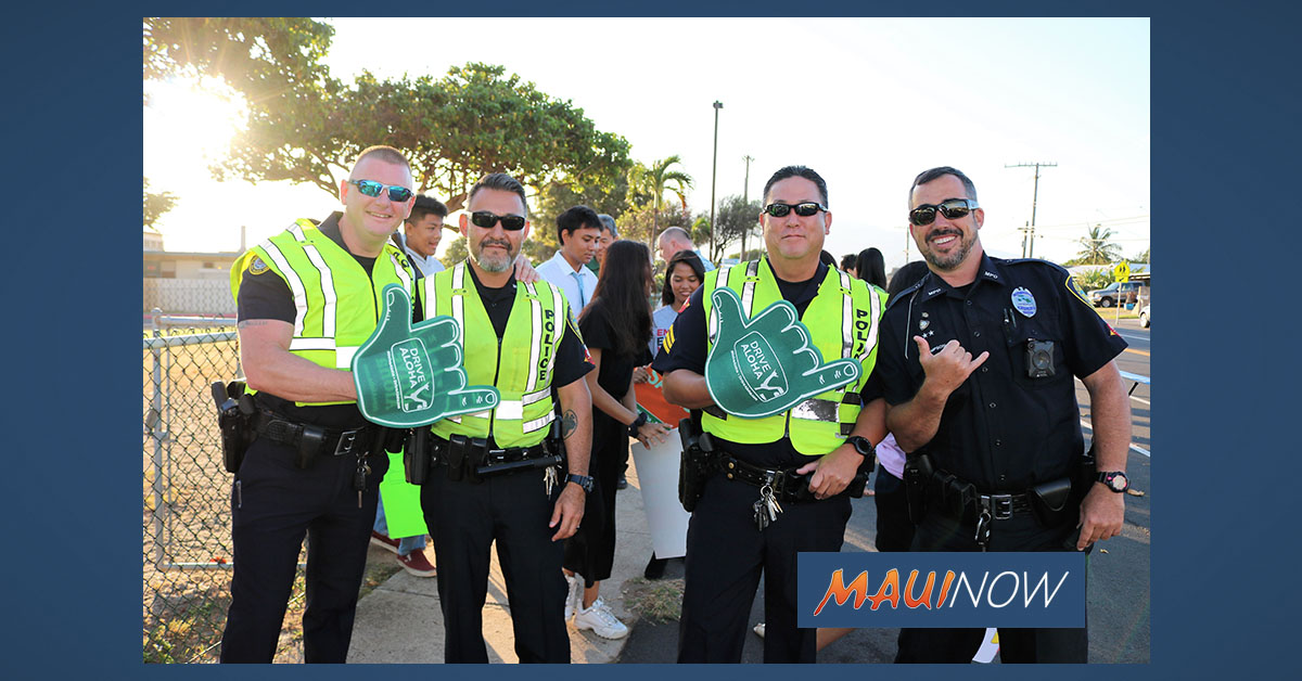 """Drive Aloha"" Sign Waving Aims to End Distracted Driving"