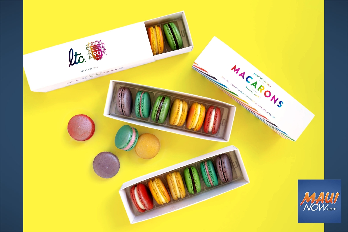 Cafe Celebrates Honolulu Pride Month With Rainbow Macarons