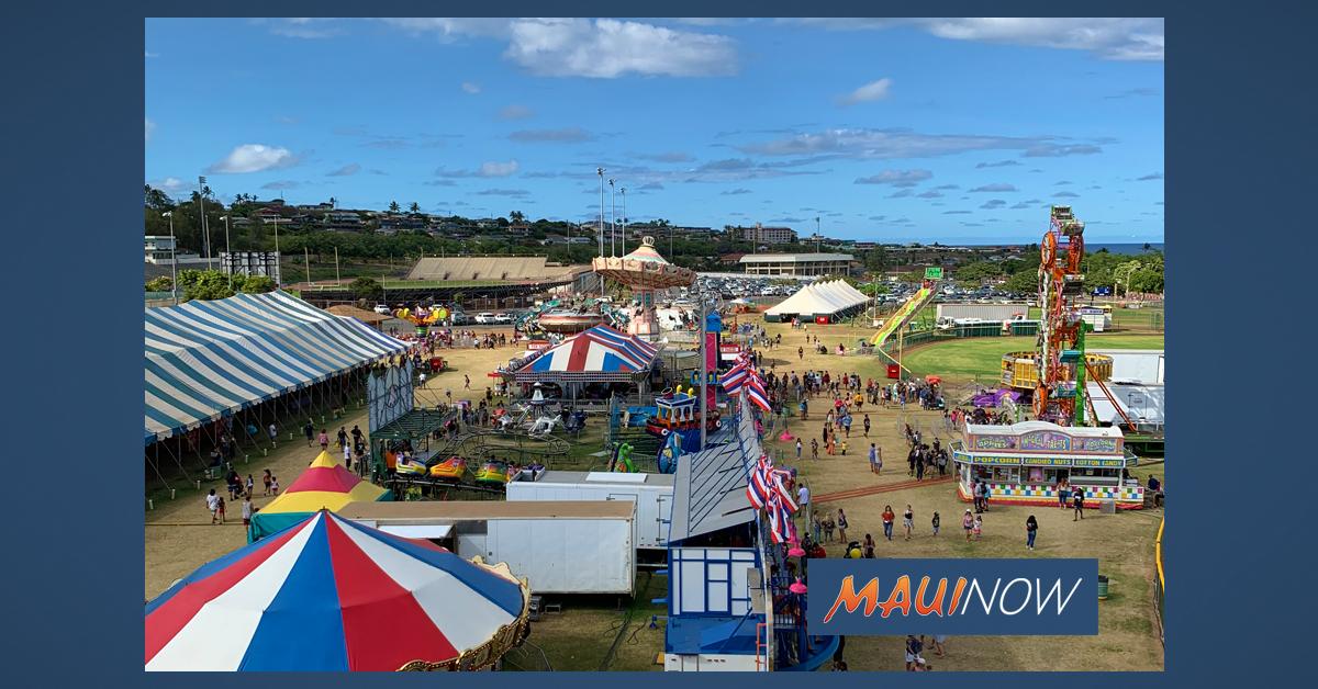 Maui Fair Attendance on Par With Last Year