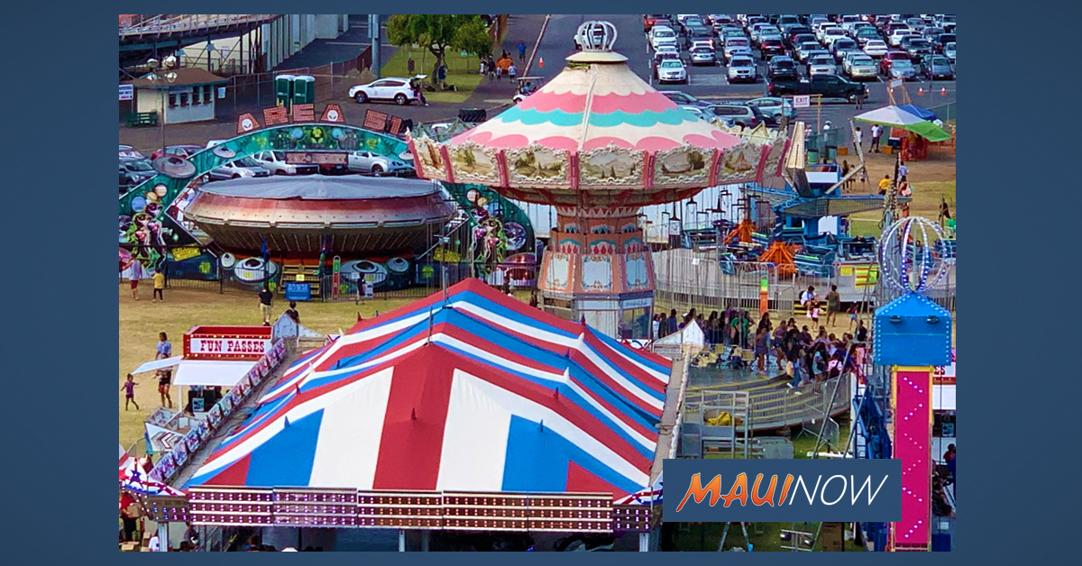 BREAKING: 98th Maui Fair in 2021 Canceled Due to Ongoing COVID-19 Concerns