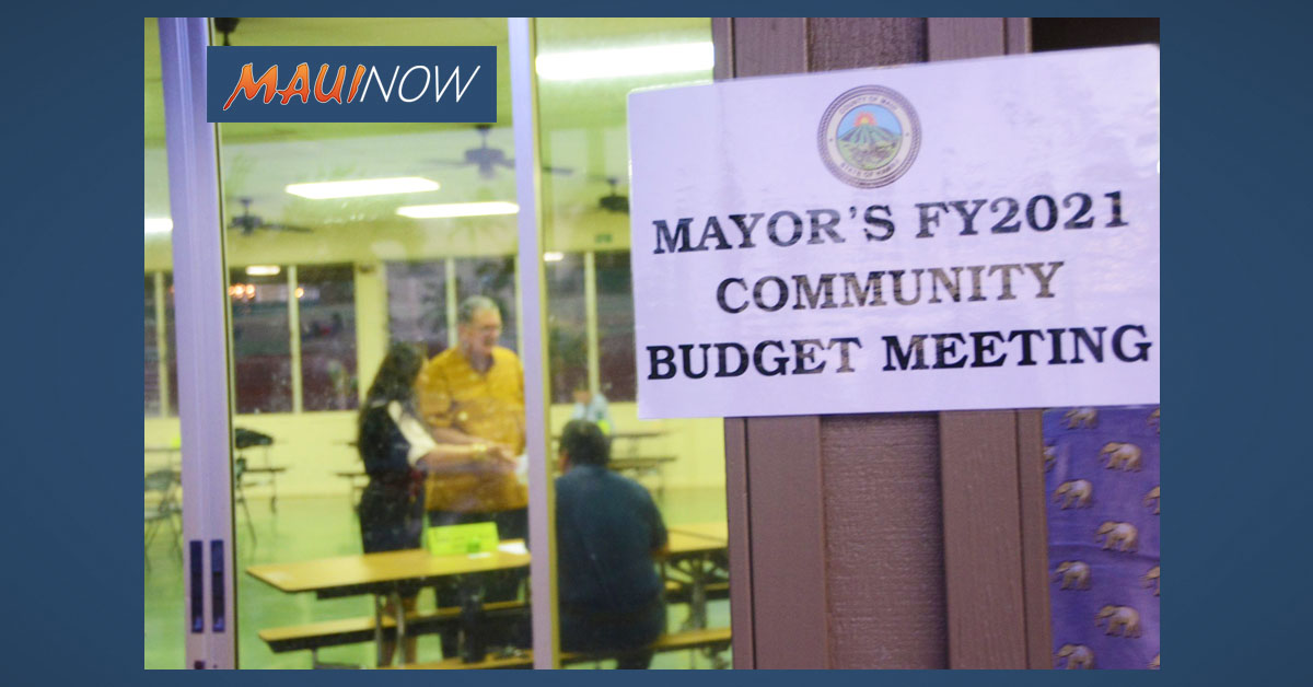 Mayor's Community Budget Meeting Tonight in Kīhei