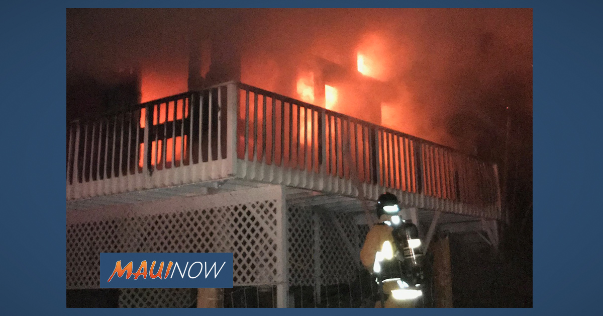 Makawao Home Fire Causes $270,000 in Damage, One Person Displaced