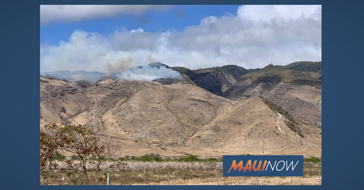 Mā'alaea Mauka Brush Fire Now 100% Contained