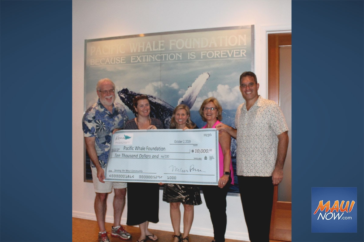 Pacific Whale Foundation Gifted $10K for Conservation Work