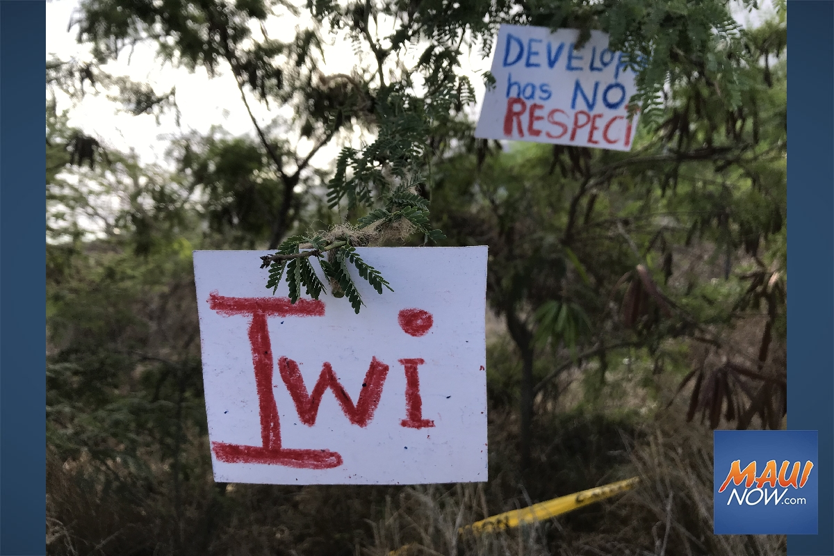 Protest Signs Condemn Residential Construction for 'Desecration' of Iwi