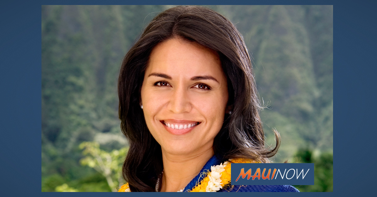 Rep. Tulsi Gabbard to Host Coronavirus Tele-town Hall Today
