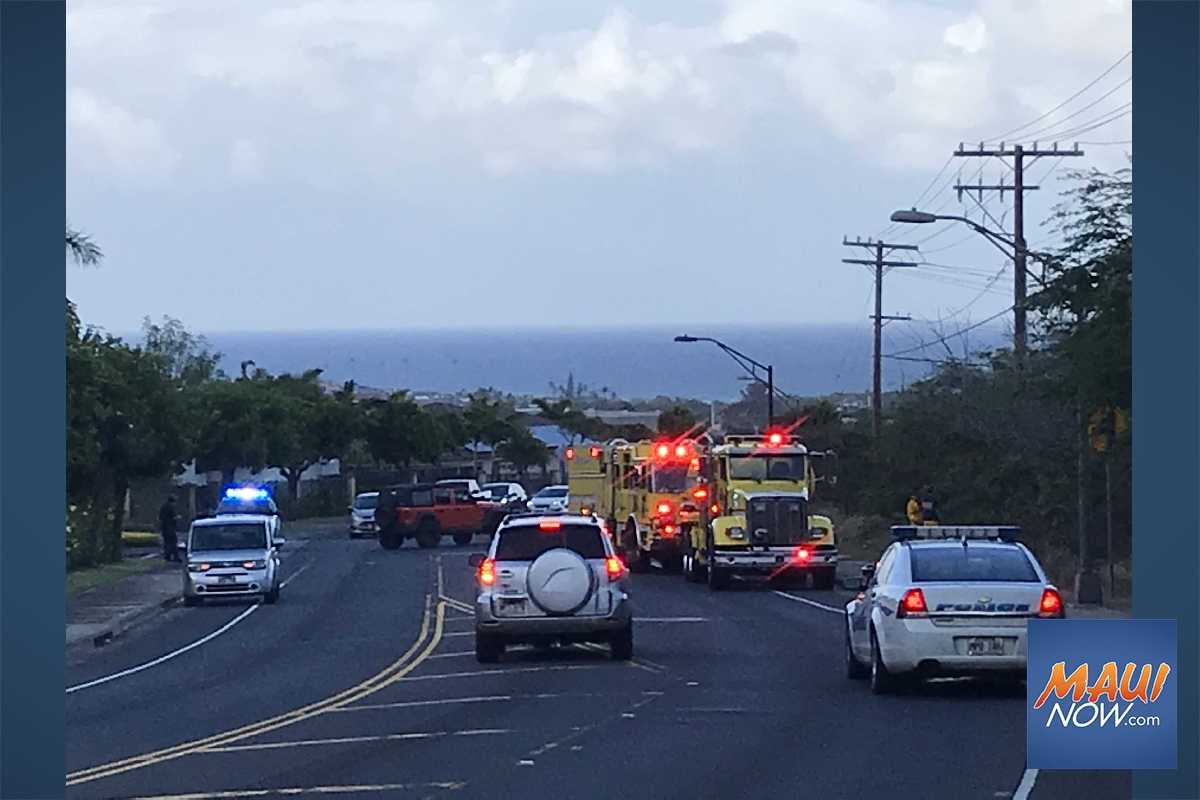 Wailuku Brush Fire Burns 4 Acres