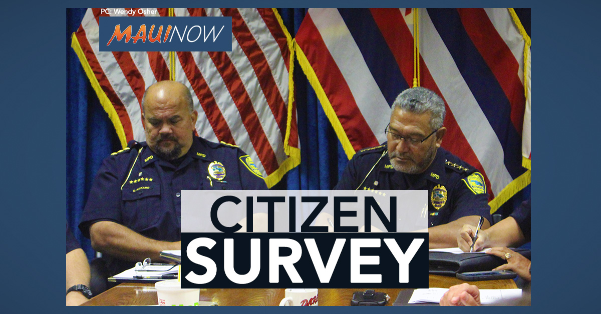 Maui Police Citizen Survey Solicits Public Opinions