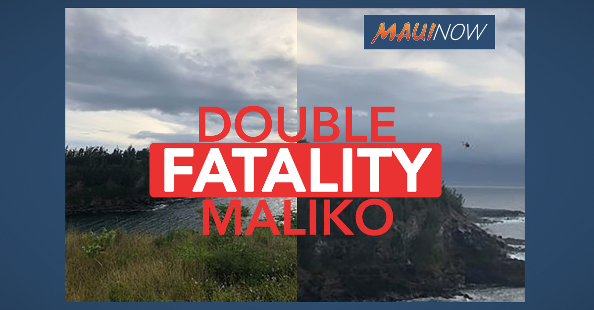 Two Dead After Truck Falls 150 Feet Down Cliff into Ocean at Maliko, Maui