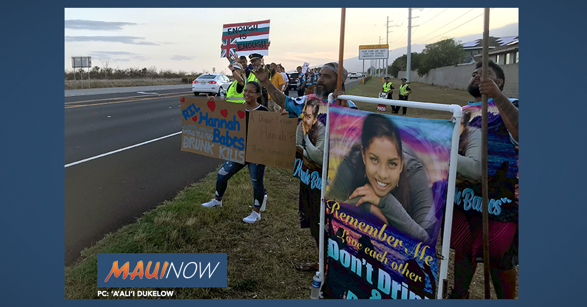 Sign Waving Honors Memory of Hannah Brown