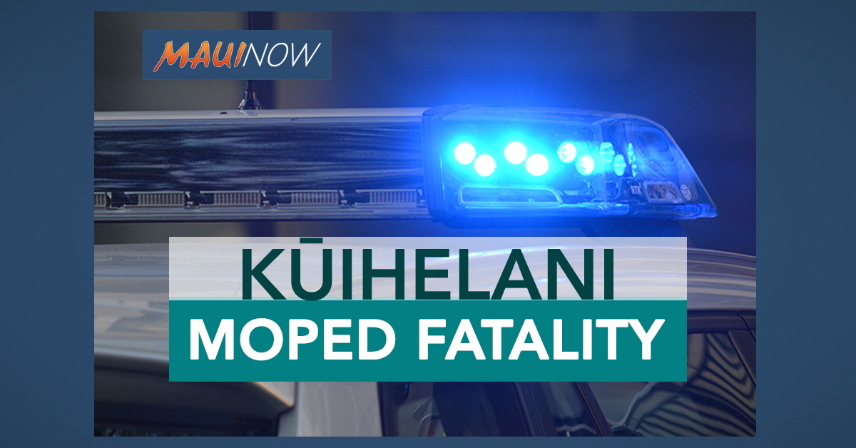 Kahului Man Succumbs to Injuries from Kūihelani Moped Crash Earlier This Month