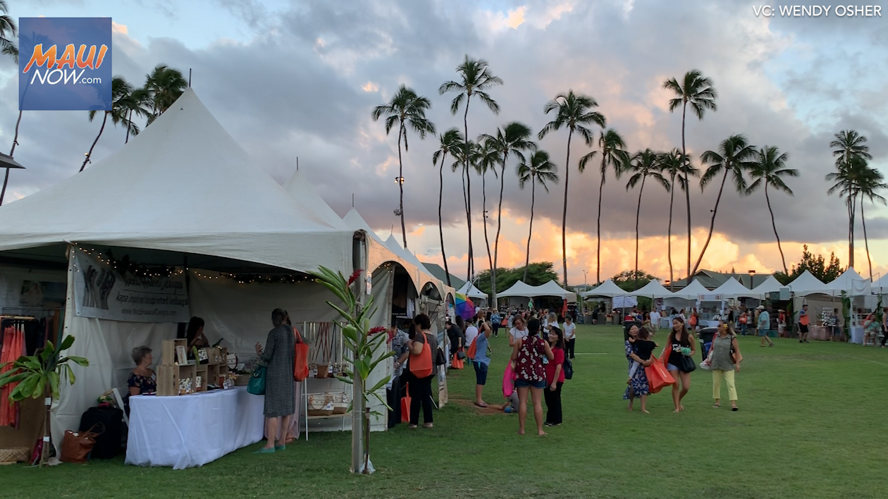 Maui's Largest Products Show Off to Solid Start, Vendors Ready for Big Festival Day