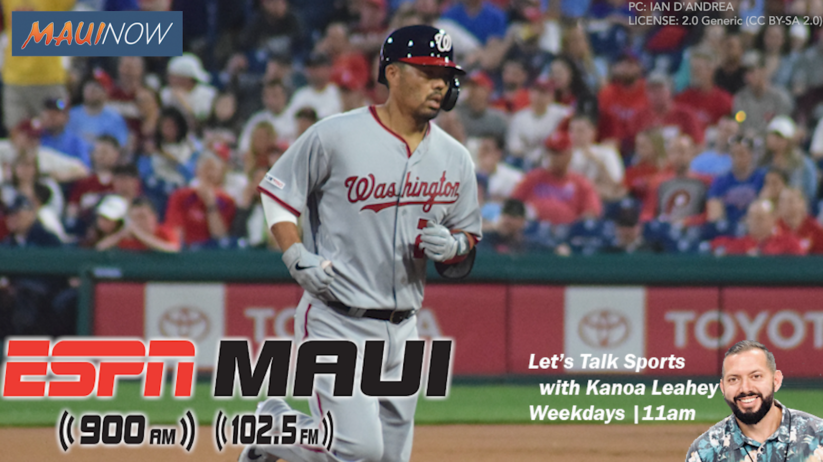 Maui's Kurt Suzuki Talks Sports with Kanoa Leahey on Heels of World Series Win