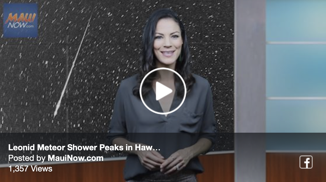 Leonid Meteor Shower Peaks in Hawai'i