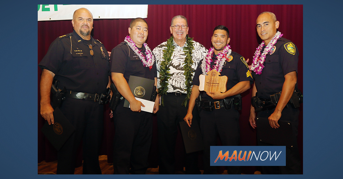 Maui Police Department's Crime Reduction Unit Named Maui Team of The Year