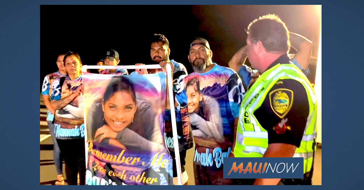 In Memory of Hannah Brown: New Holiday Tradition on Maui Roads Nets Arrest
