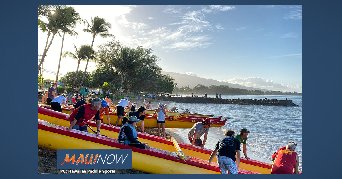 Maui Paddle For Hunger Raises $8K and 1,200 Pounds of Food