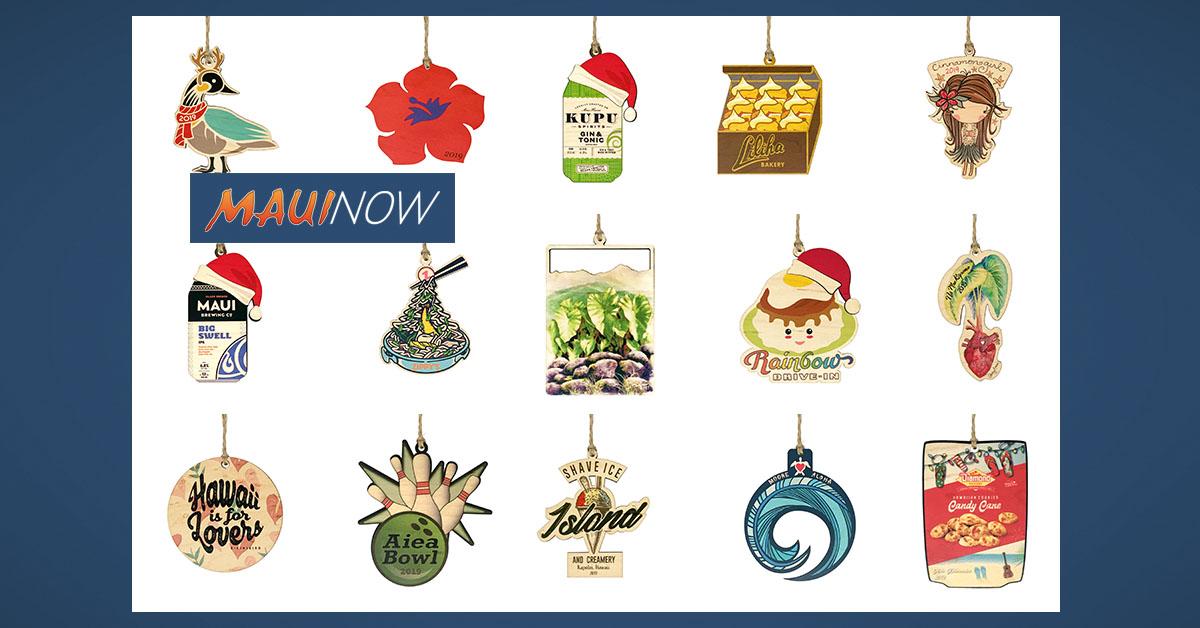 "Locally Made ""Hi Biz"" Ornaments Include Maui Favorites"