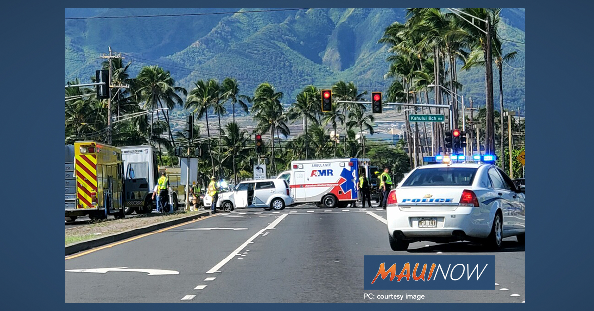 Traffic Alert: Accident on Ka'ahumanu Avenue, Kahului