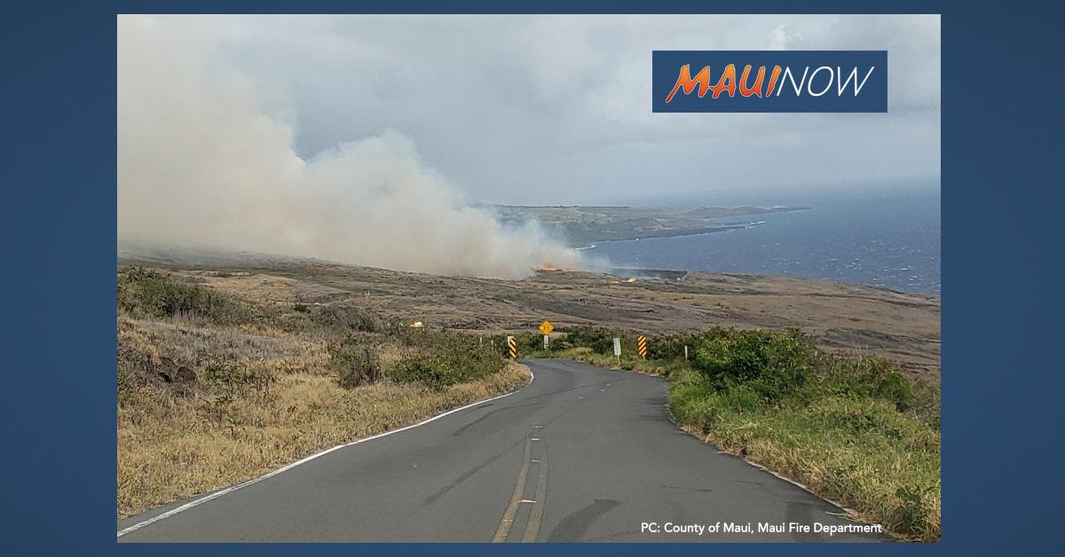 Kahikinui Fire 100% Contained, Evacuations Lifted, 300 Acres Burned