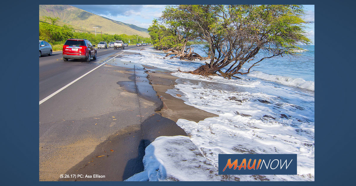 Coastal Flooding Risks Possible Along Honoapi'ilani Highway