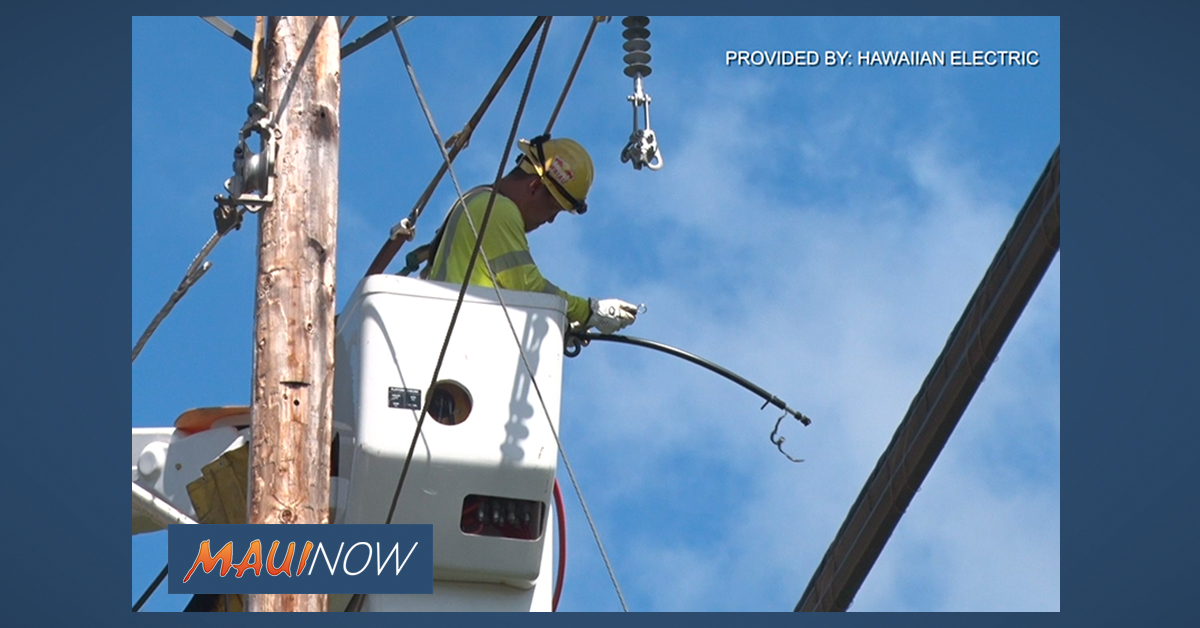 Maui Electric Drone Aerial Line Inspections Today and Tomorrow