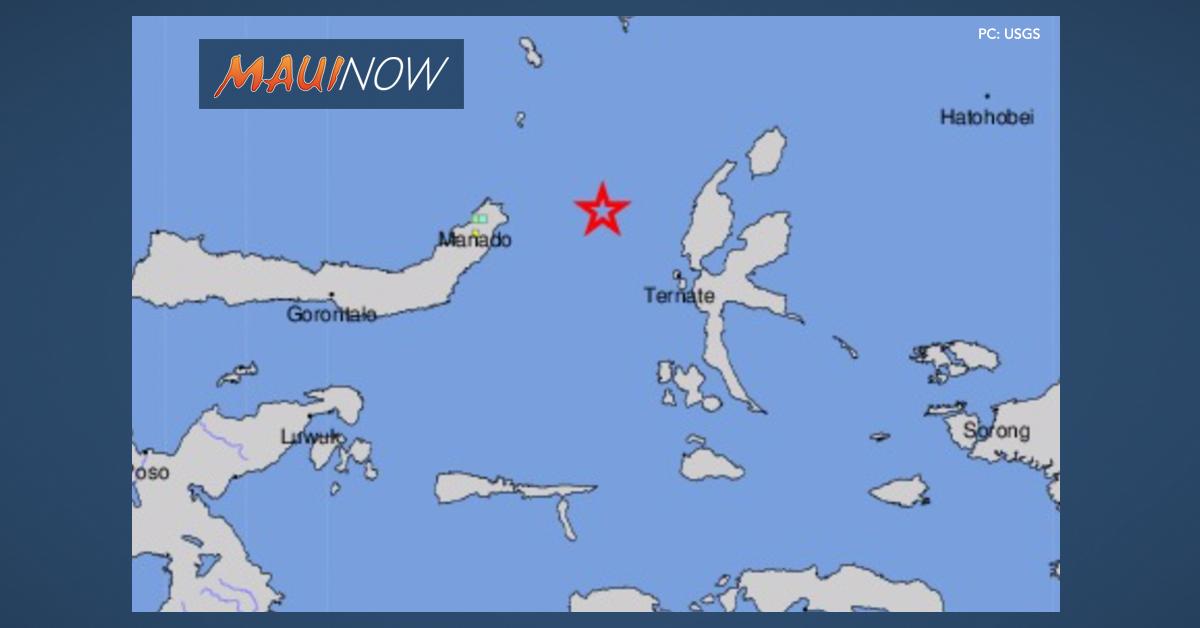 No Tsunami Threat to Hawai'i After 7+ Quake in Molucca Sea Near Indonesia