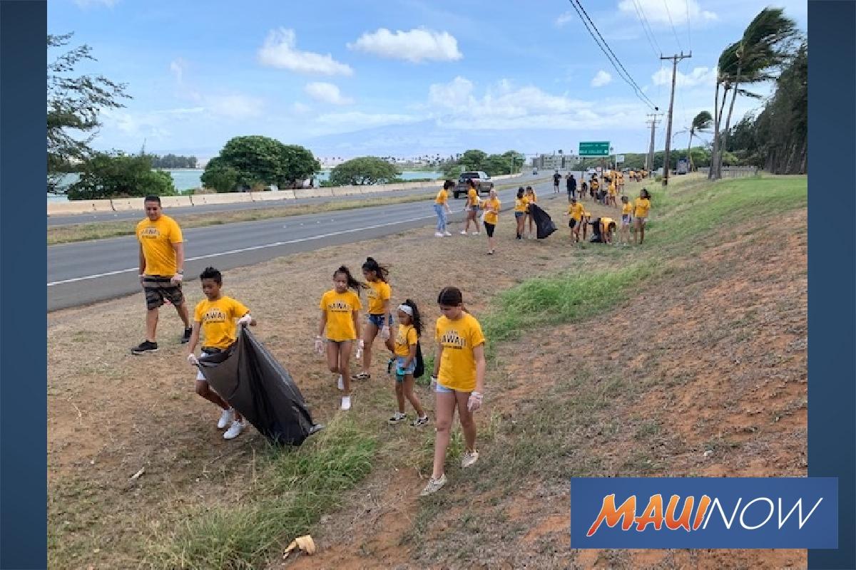 Cheer Squad Tidies Up Beach Road