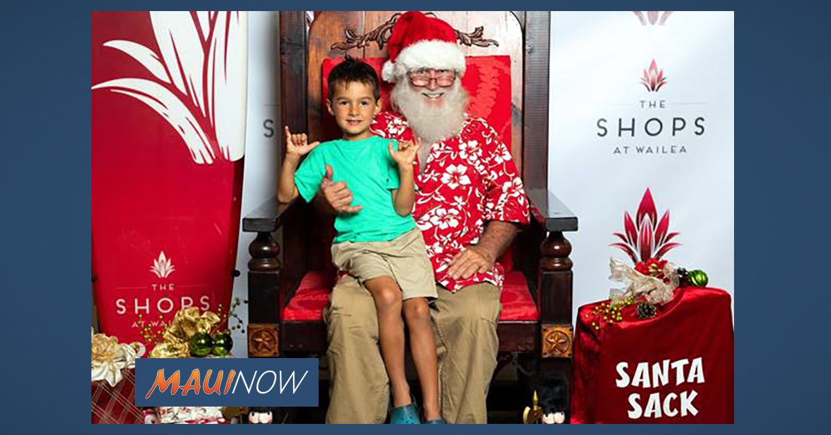 Holidays at The Shops at Wailea: Black Friday Promotions, Santa Photos